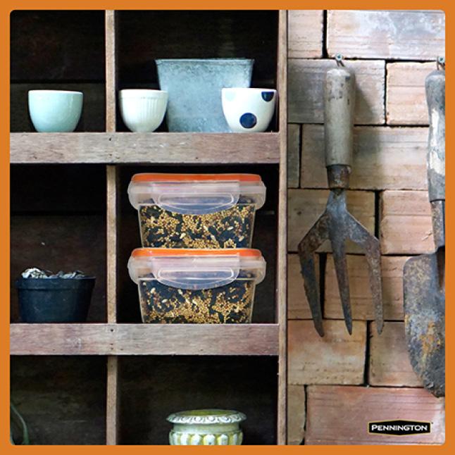 Pennington Premium Wild Finch Food Blend Seed Storage