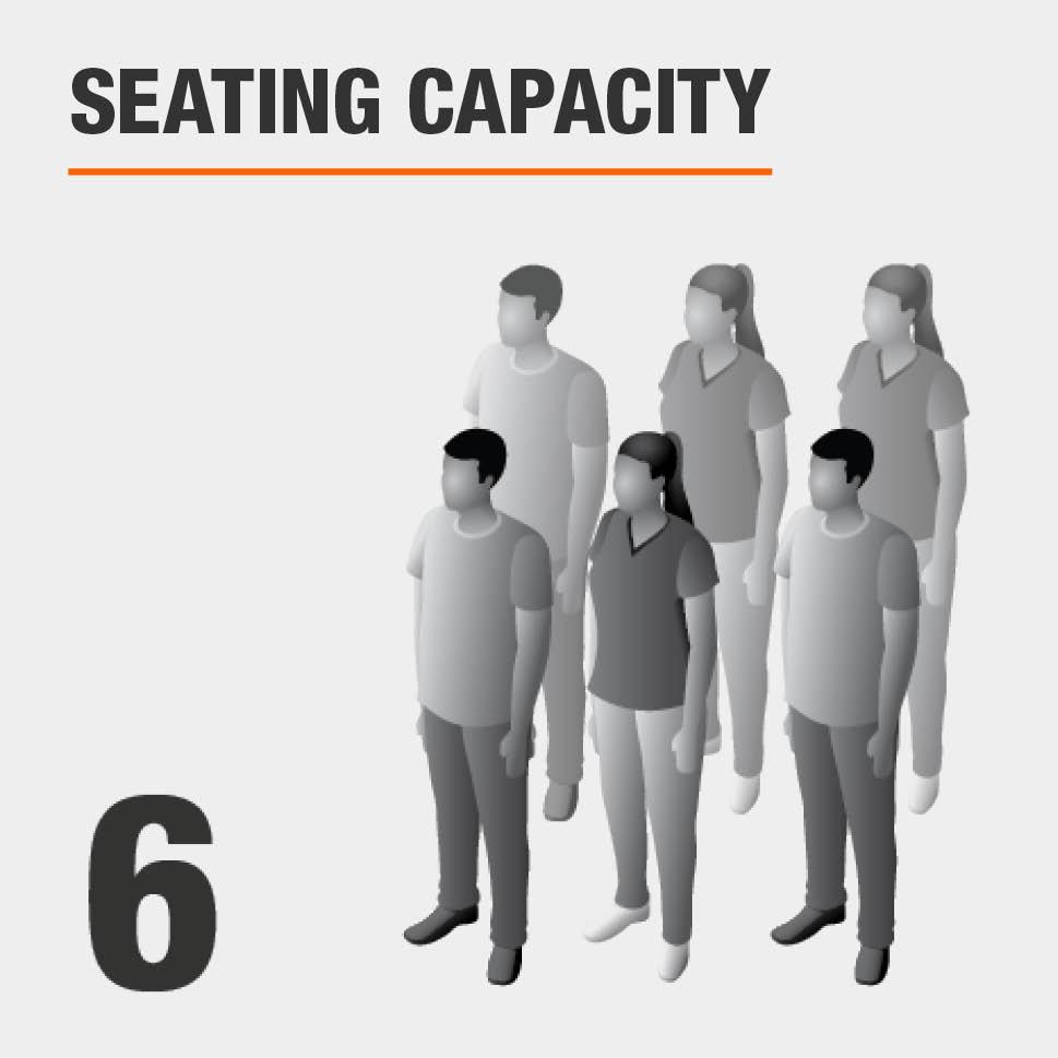 Seating Capacity Seats 6 People