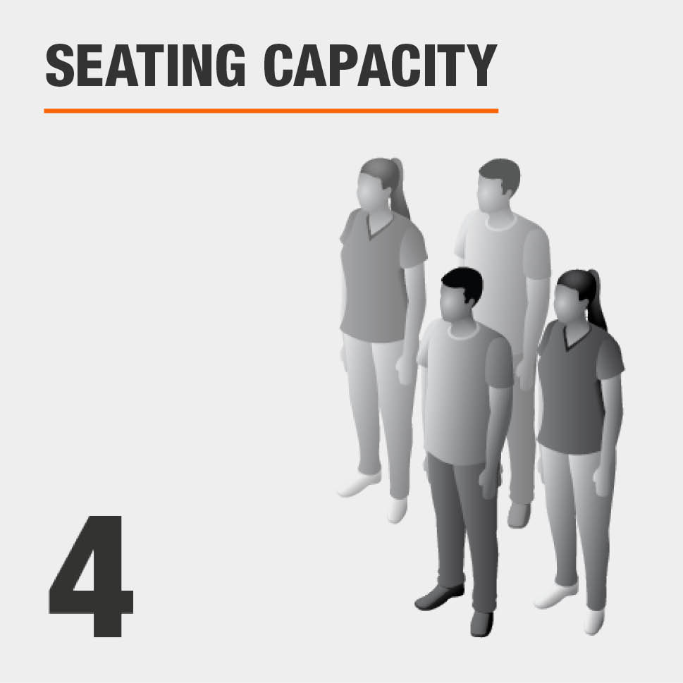 Seating Capacity Seats 4 People