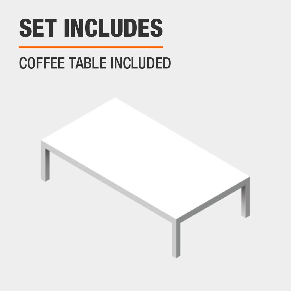 Set Includes Coffee Table Included