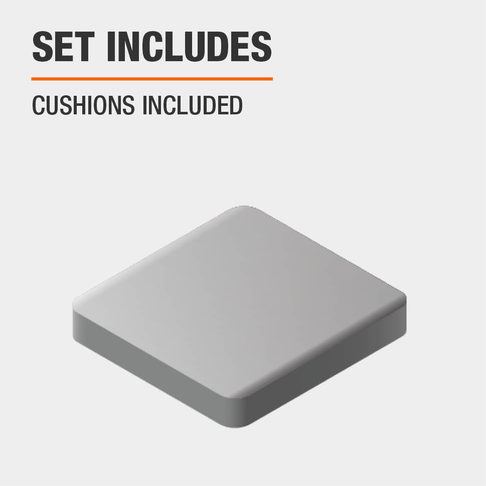 Set Includes Cushions Included