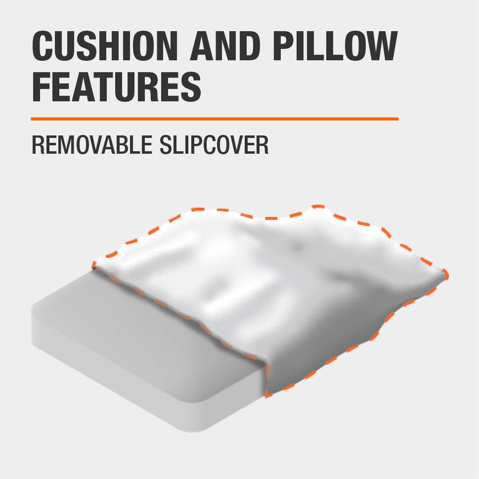 Cushion and Pillow Features Removable slipcover