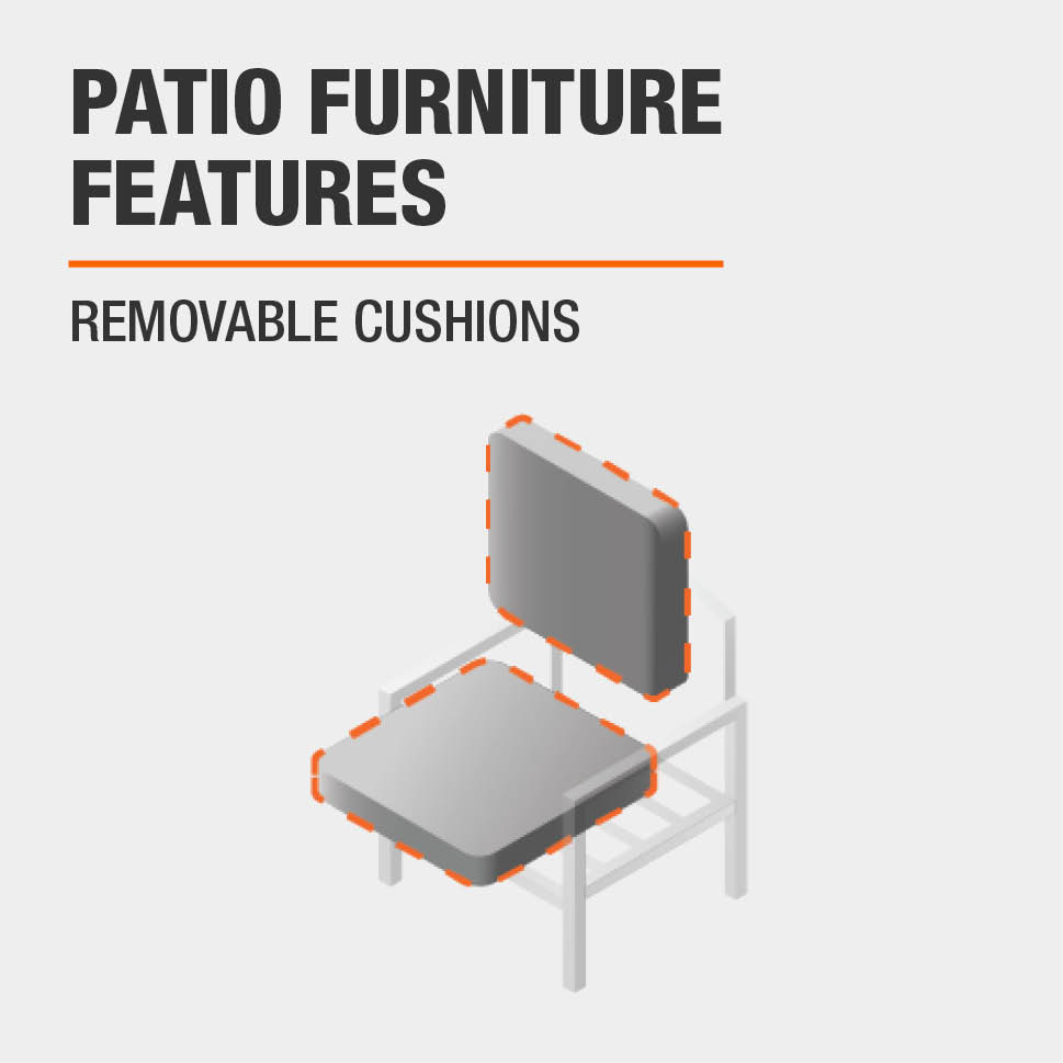 Patio Furniture Features  Removable Cushions