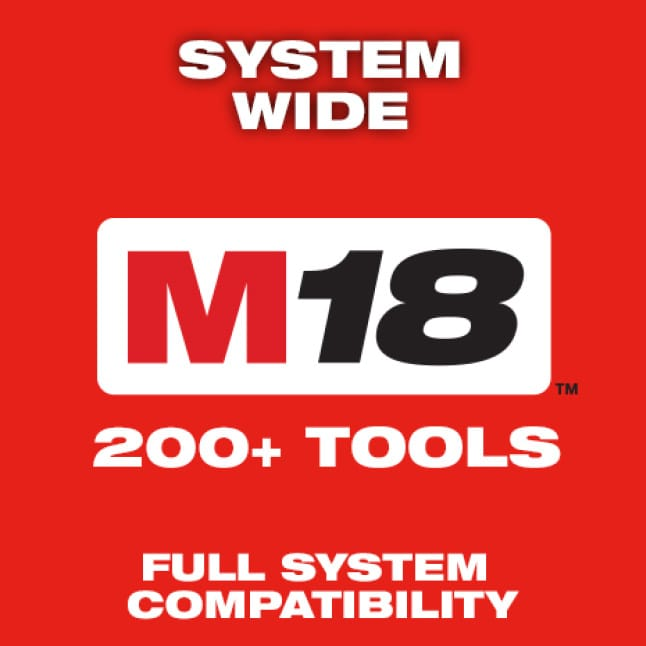 Milwaukee's power tools are part of the M18 System, featuring over 200 cordless solutions.