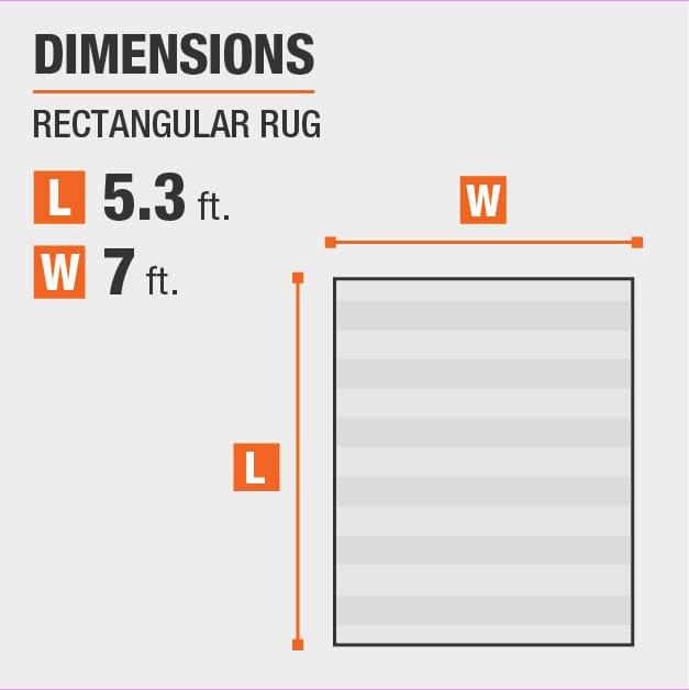 Cadence Multi 5 ft. x 7 ft. Medallion Area Rug is 5.3 feet by 7 feet