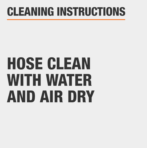 clean rug with hose and water and air dry