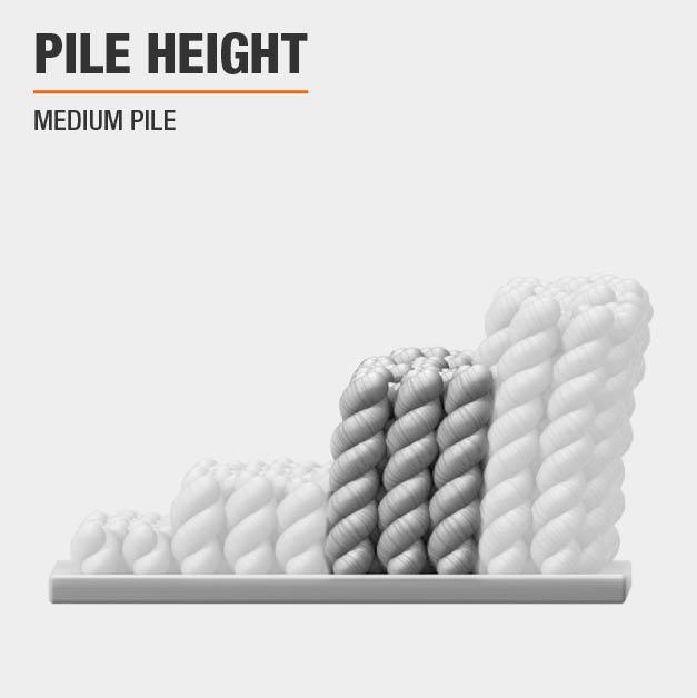 Area rug has a Medium Pile pile height