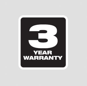 Three Year Tool Warranty