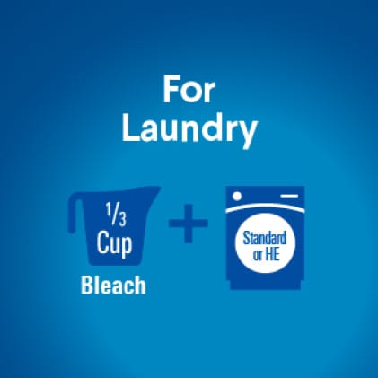 Fill bleach to max line in dispenser or add measured amount to wash water. Add clothes and start wash. Ensure contact with bleach for 10 minutes.