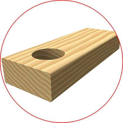 This is an image of a clean wood material application.
