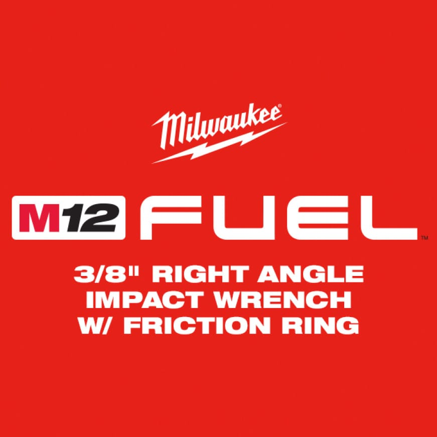 "The M12 FUEL 3/8"" Right Angle Impact Wrench is the industry's most powerful right angle impact wrench"