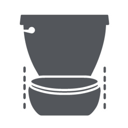 Champion Toilet with No-Shift Hinges on Seat