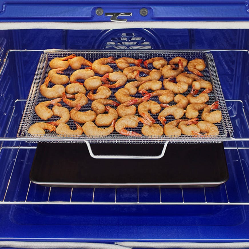 Air Fry is built into the large capacity oven