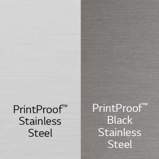 Available in PrintProof Stainless Steel and PrintProof Black Stainless Steel