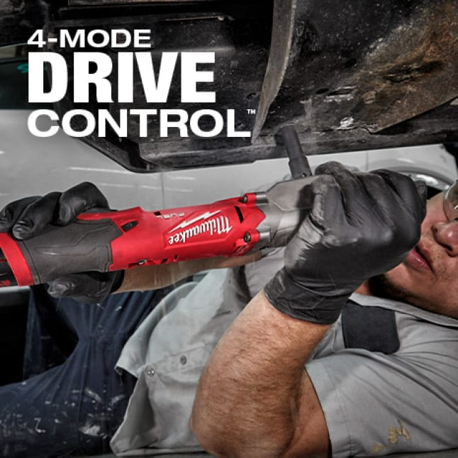 4-Mode Drive Control for with Auto Shut-Off and Bolt Removal Mode