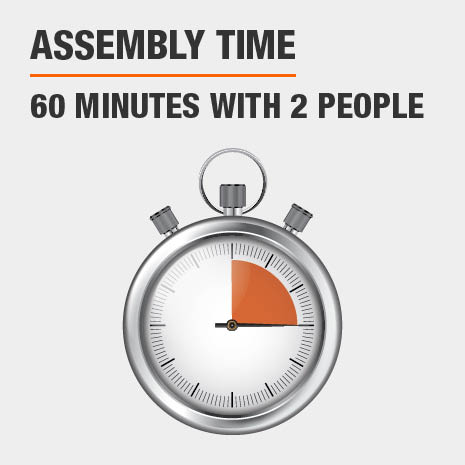 Assembly time is 60 minutes with 2 people