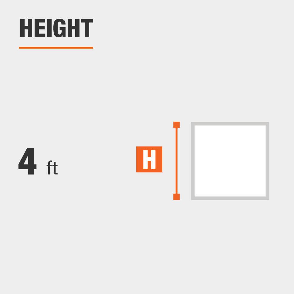 Height is 4 feet