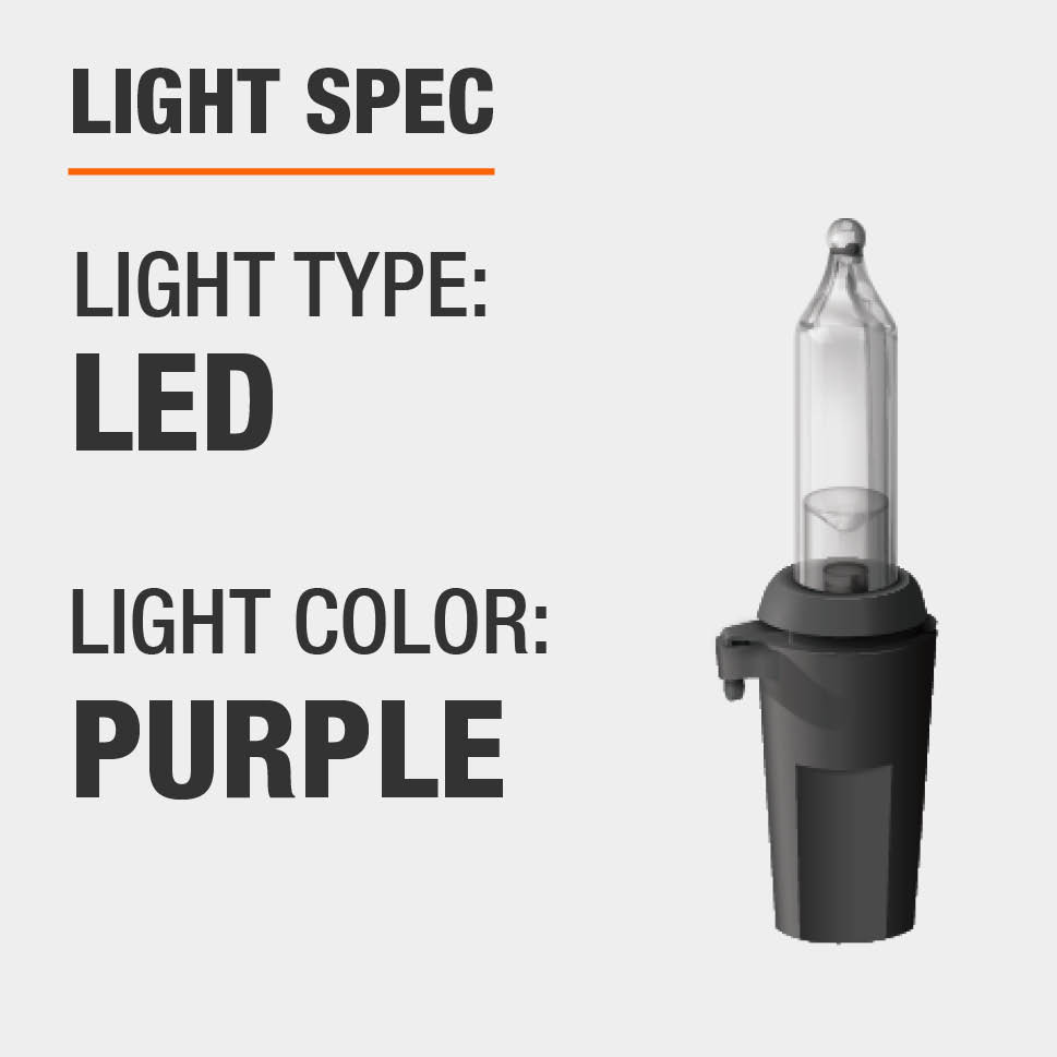 The light type is LED and color is purple