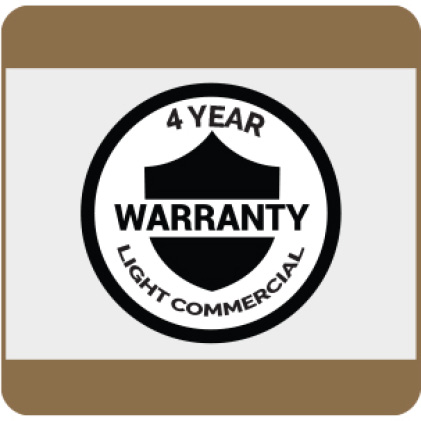 4-Year Light Commercial Warranty details available