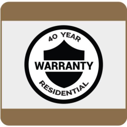 40-Year residential warranty