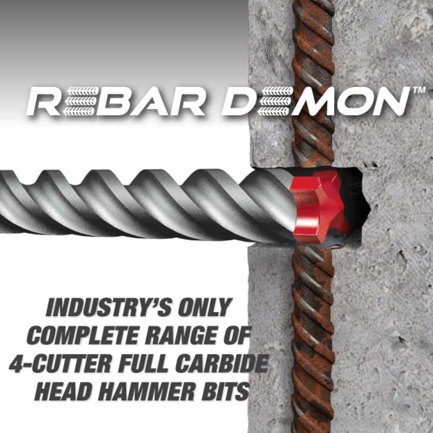 This is an image of a rebar demon carbide head hammer bit.