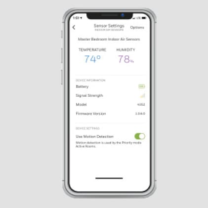 Honeywell Home app displaying more insights about home