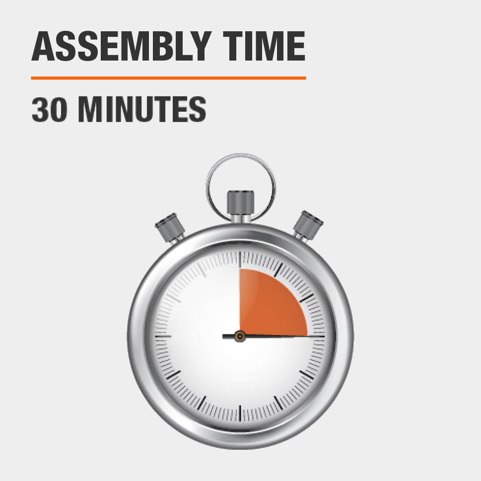 Assembly time is 30 minutes