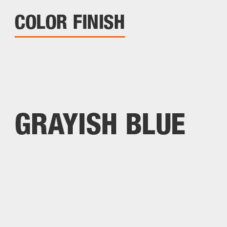 This bathroom vanity mirror color finish is Grayish Blue