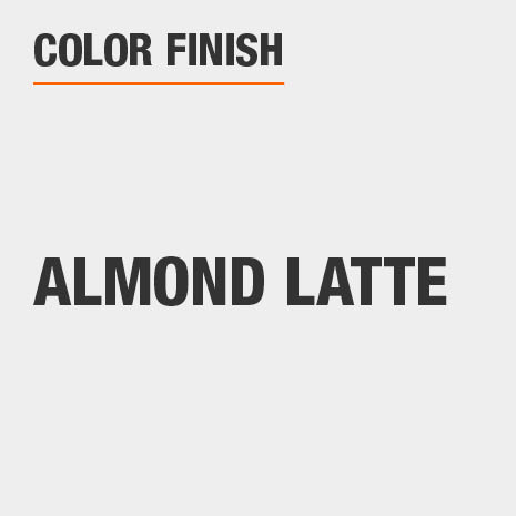 This bathroom vanity mirror color finish is Almond Latte