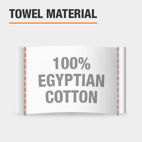 100% Egyptian Cotton Bath Towels