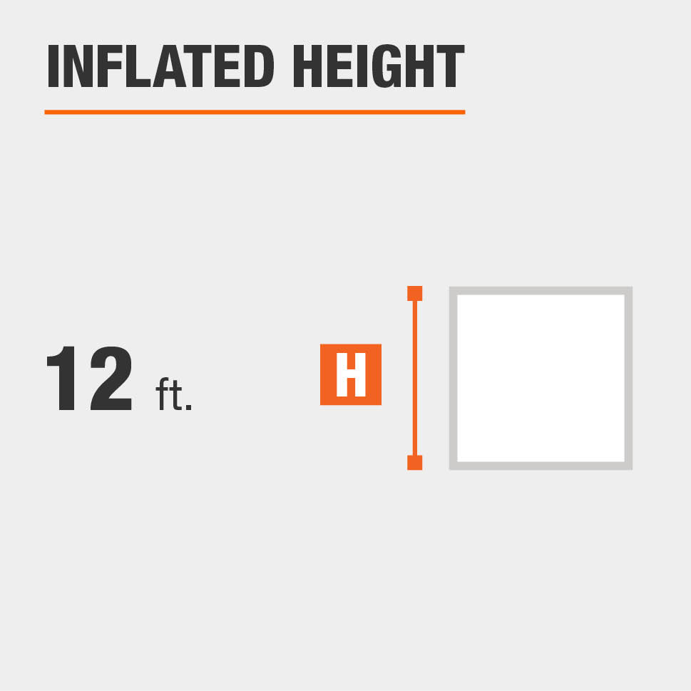 Inflated height is 12  feet