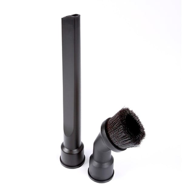 Included crevice tool allows for cleaning in tight spaces and dusting brush can be used on delicate surfaces.