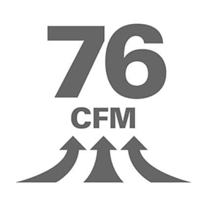 CFM - The airflow rating of the vac. This is a general purpose Wet/Dry Vac.