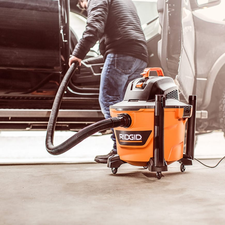 The vac and accessories are specifically designed for cleaning and detailing vehicles.