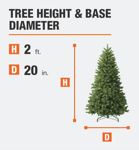 Tree Height= 2 feet Base Diameter= 20 inches