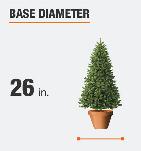 The base diameter is 26 inches