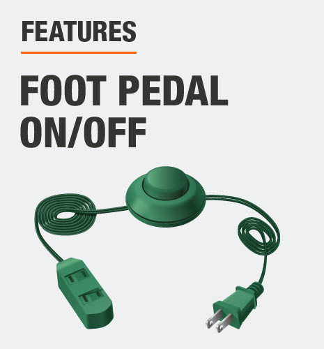 This tree includes a foot pedal to turn tree on/off