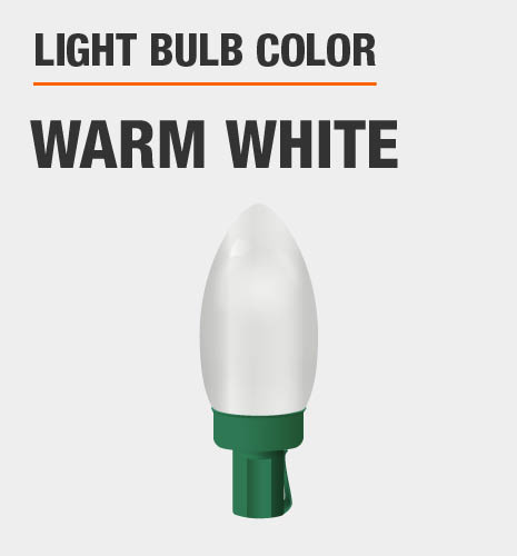 Light bulb color is warm white