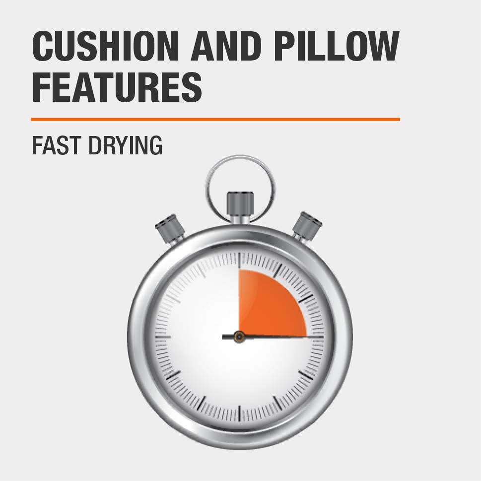 Cushion and Pillow Features Fast Drying