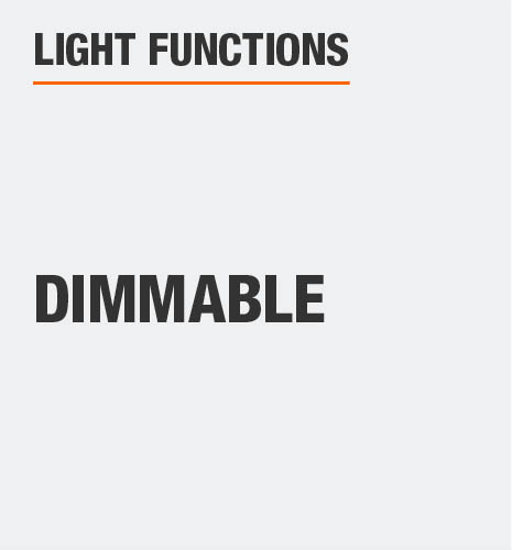 This light is dimmable