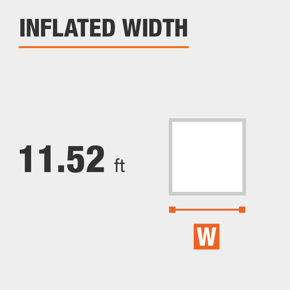 Inflated width is 11.52 feet