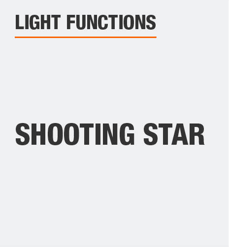 The light function is shooting star
