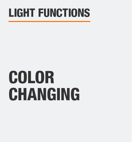 The light function is color changing
