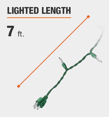 The lighted length is 7 feet