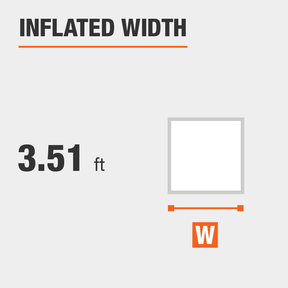 Inflated width is 3.51 feet