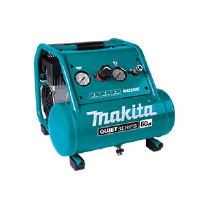 MAC210Q high cfm, low decibel, horizontal compressor for use with air tools