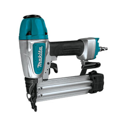AF506 Makita brad nailer for use with Makita's quiet, portable air compressor