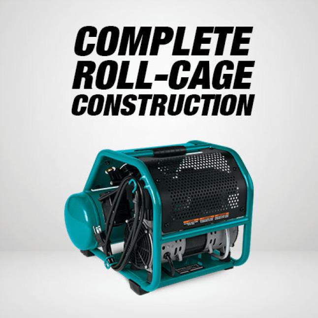 roll cage construction, silent air compressor, small compressor, makita nail guns