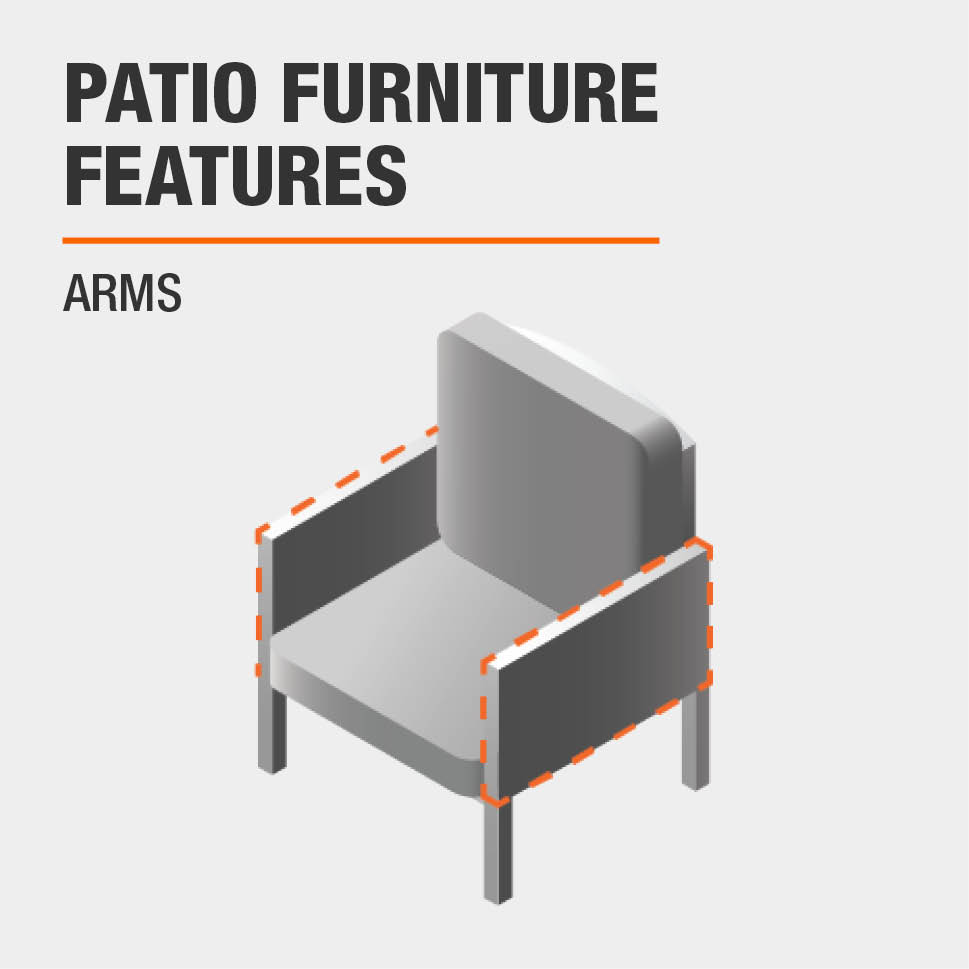 Patio Furniture Features Arms