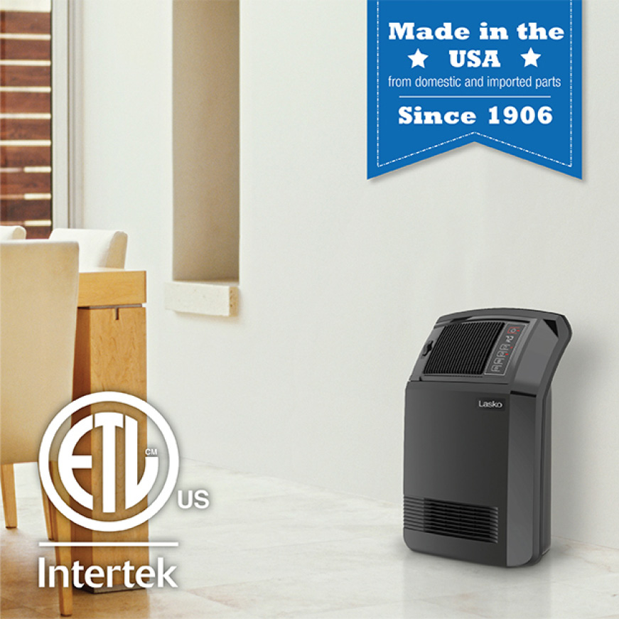Cyclonic Digital Ceramic Heater with Remote